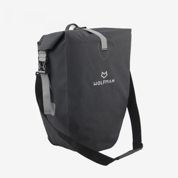 WOLFMAN 2in1 Fahrradtasche für Gepäckträger - Wilderness